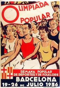 Affiche des Jeux populaires de Barcelone