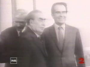 Georges Marchais et Leonid Brejnev