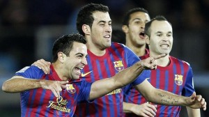 Les trois compères barcelonais ont pris à la gorge le milieu de l'AC Milan mardi.
