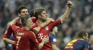 Le Bayern a envoyé un message à l'Europe du ballon rond en étrillant le Barça (4-0). (AFP)