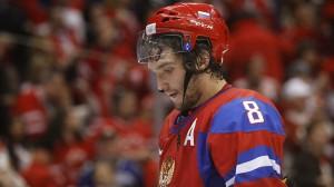 Ovechkin a encore déçu à Sotchi. (Olympic.ca)